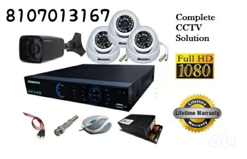 4 cctv camera setup hd quality 0