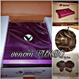 TERBARU buat sidoarjo Paketan audio full venom turbo+box+kabel+pasang