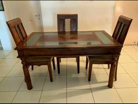Dining set,almost new,Solid wood(teak) A Fab India product...
