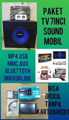 Paket Complit Tv Mobil Plus 1 Set Sound Mobil Bisa Di Cicil
