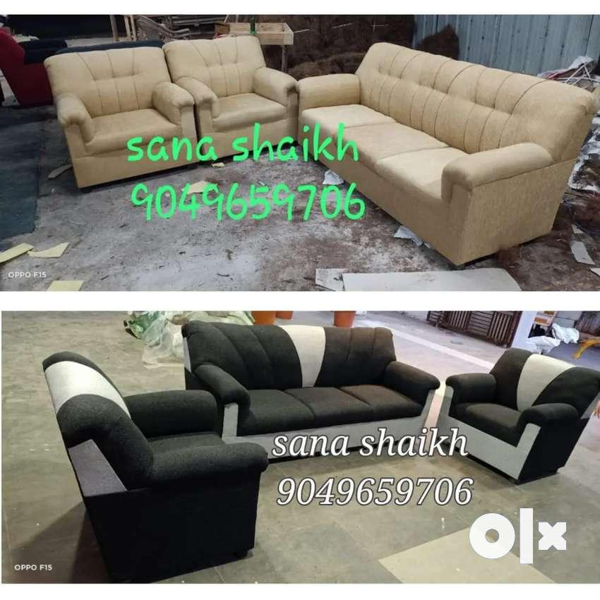 Olive designed fabric sofa