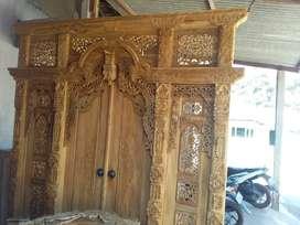 Pintu gebyok ukir jati laga
