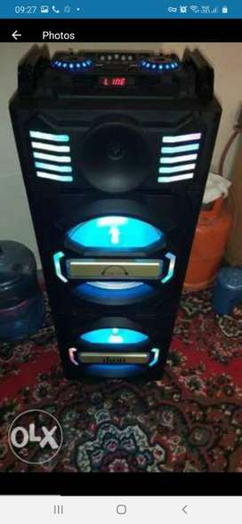 Sound system condition like new with original box and invoice