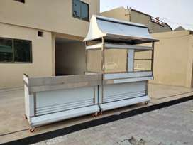 Shawarma counter 6 feet , pizza oven and fast food setup delivery bag