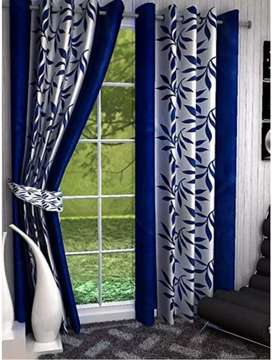 Blue Curtains (Rs 130 each)