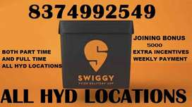 SWIGGY- DELIVERY BOYS REQUIRE URGENTLY/EARN DAILY PAYMENT & INCENTIVES