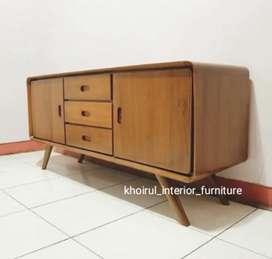 Bufet tv retro furniture jati .