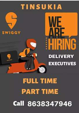 Come Join leading Food delivery service, Swiggy. Deliver and earn.