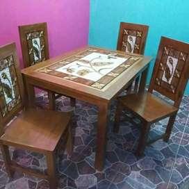 Meja makan jati 2542