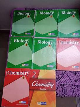 Allen chemistry pre medical books + some biology books