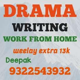 Movie script writing part time job