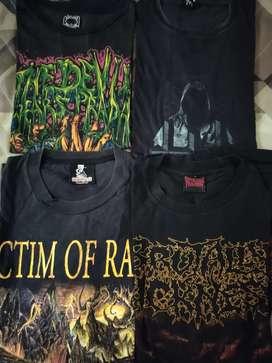 Kaos/t shirt band metal borongan