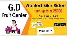Hiring for Biker - Rapido Chennai