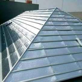Rangka Atap Baja Ringan+Alumunium foile double (Terpasang)