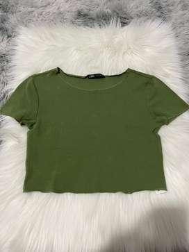 ZaraCroptops green