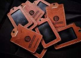 Souvenir Perusahaan Eksklusif Tempat Id Card Kulit
