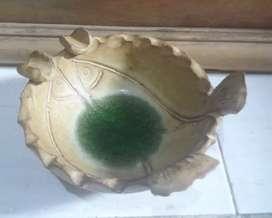 Asbak antik tembikar cantik gerabah lawas koleksi pajangan dekor unik