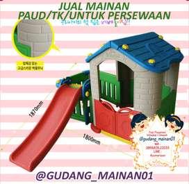 Mainan Playground Indoor Perosotan Dengan Rumah-rumahan Berkualitas