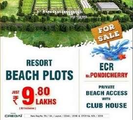 Beach Side Plots for sale @t Ecr Near Pondy