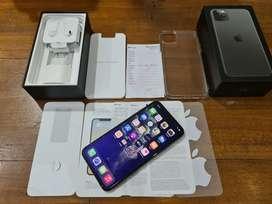 iPhone 11 Pro Max 64GB Grey, Resmi Indonesia Mei 2021, Full ori, mulus