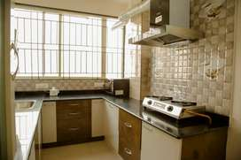 2 BHK furnished flat with private sit out area of 300 sq ft for rent