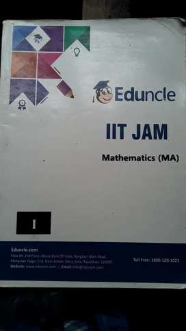 IIT JAM preparatory Book and Old solved question paper