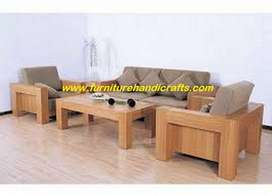 Brand new 3+1+1  solid wooden sofa set