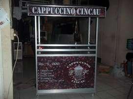 Rombong Cappucino Cincau Lengkap siap Jualan