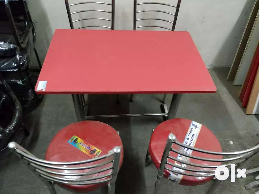 All Fresh Restaurant Chairs & Tables in Red  Colour 0