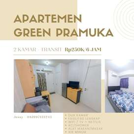 Apartemen green pramuka city sewa mingguan dan harian