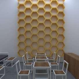 Desain Interior Cafe Harga Paketan Murah Jogja
