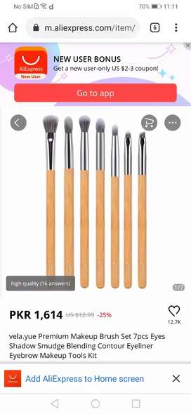 Makeup brushes set low price from vela.yue with tcs delivery