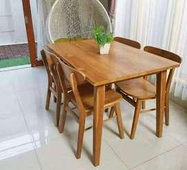 Kursi+makan costum kayu jati