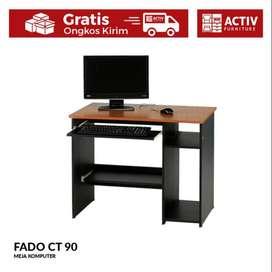 Activ Meja Komputer Kerja / Meja Minimalis Motif Kayu / FADO CT 90