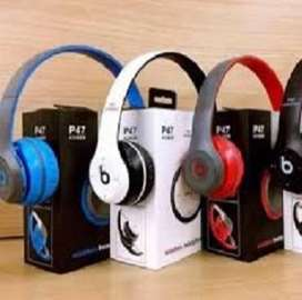 P47 wireless Best Quality good sound headphones support SD card