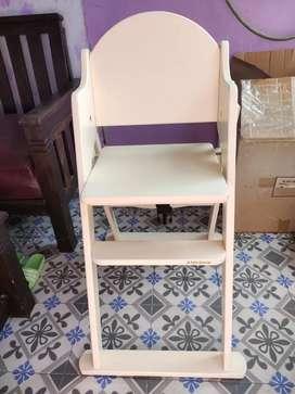 Kursi makan kayu mahoni baby belle