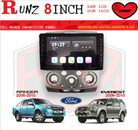HEAD UNIT RUNZ LAYAR 8INCH 1GB-16GB RANGER&EVEREST