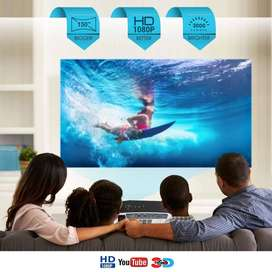 100Inch LED HD Projector Watch TV Movies On Big Screen Mobile Connect