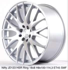 Velg kalimantan NIFTY JD123 HSR R18X8 H8X100-114,3 ET45 SMF