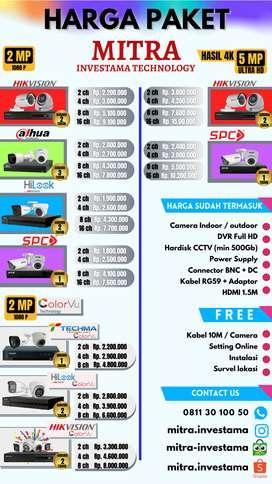 Paket CCTV Ultra HD, SANGAT JELAS & TAJAM, NO BLUR