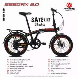 Sepeda Lipat Folding Bike Pacific 2980 RX 6.0 Ukuran 20 Inch