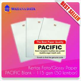 Kertas Foto Glossy Photo Paper A4 115 Gsm Pacific Proffesional 50 lbr