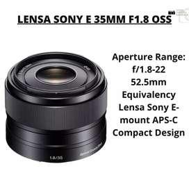 LENSA SONY E 35MM F1.8 OSS !!! GARANSI RESMI SONY INDO