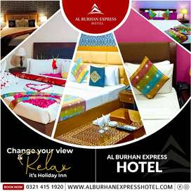 booked your upcoming visit wit Al Burhan Express Hotel Lahore