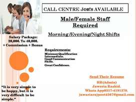 Call center staff required on urgent basis