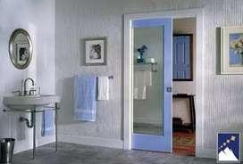 Pemasangan pintu geser aluminium