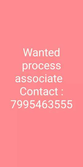 Wanted process associate in chittoor