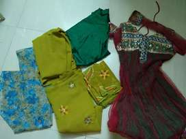 Rarely USED SALWAR SUITS .MANY KURTIES