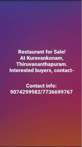 Running restaurant for sale