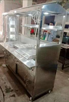 Burger and shawarma counter. 7x2.5 size 2hotplat with shawarma machine